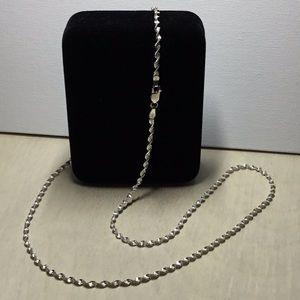 Jewelry - 24 Inch Silver (.925) Spiral Chain